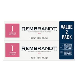 Rembrandt Intense Stain Whitening Toothpaste - Best Toothpaste Recommended by Dentist: Great for braces