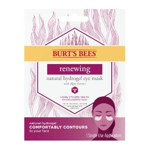 Burt's Bees Renewing Natural Hydrogel Eye Mask - Best Eye Patches for Puffiness: Visibly Smooths the Delicate Undereye Area