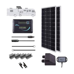 Renogy 200 Watts 12 Volts Monocrystalline Solar Kit  - Best Solar Panel for Residential Use: Complete package