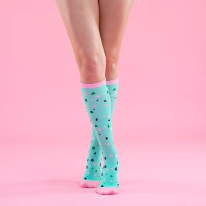 Primes Restorative Compression - Aqua Confetti - Best Compression Socks for Travel: Provide Instant Relief for Your Tired, Heavy and Aching Legs