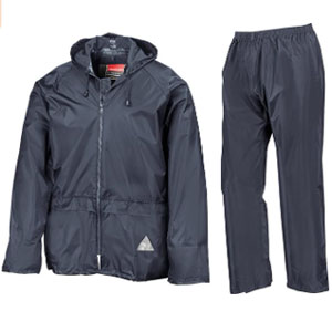 Result Trouser Suit Adult Windproof Coat - Best Raincoats for Golf: Raincoat jacket with mesh ventilated back