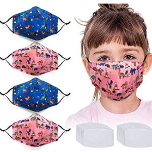 NBDIB Kids Face Protector with Activated Carbon Filters - Best Masks for Kids: Mask with Activated Carbon Filters