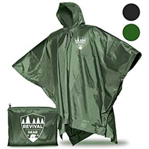 Revival Gear Reusable Rain Ponchos - Best Raincoats for Hiking: Get everything in one product
