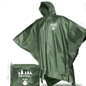 Revival Gear Store Reusable Rain Ponchos - Best Raincoats for Fishing: Rincoat with Regulate Temperature