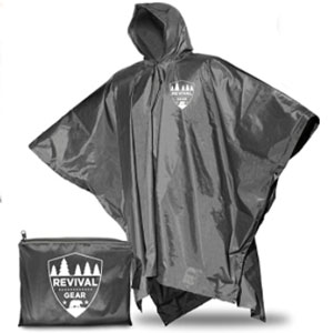 Revival Gear Draw-String Hood and Zipper Collar - Best Raincoats for Fishing: Raincoat with Regulate Temperature