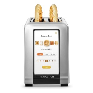 Revolution High-Speed 2-Slice Stainless Steel Smart Toaster - Best Toaster for Bread: Touchscreen Control Toaster