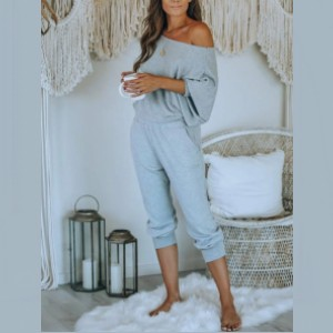 Lulacola Rib-Knit Batwing Sleeve Top & Pocket Pants Set - Best Affordable Loungewear Sets: Breathable but also keeps you warm