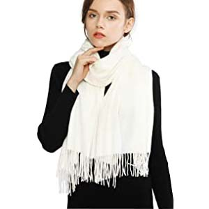 RIIQIICHY Winter Cashmere Wool Scarf - Best Scarves for Winter: Easy to mix and match