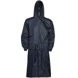 Rimi Hanger Mens Long Waterproof Hooded - Best Raincoat for Boating: Raincoat with Long Design