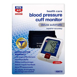 Rite Aid Deluxe Automatic Blood Pressure Monitor & Cuff - Best Blood Pressure Monitors to Buy: The most affordable