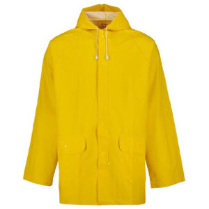 Rivet PVC Rain Jacket - Best Raincoats for College Students: Hood with Drawstring
