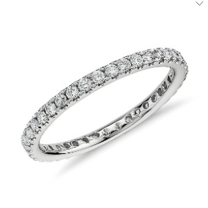 Blue Nile Riviera Pavé Diamond Eternity Ring - Best Jewelry for 25th Wedding Anniversary: Dazzling and romantic