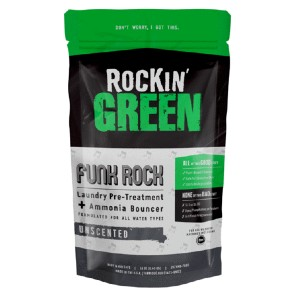 Rockin Green Funk Rock Ammonia Bouncer - Best Baby Laundry Detergents: No Optical Brighteners or Artificial Fragrances