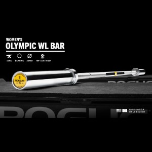 Rogue 25MM IWF Olympic Weightlifting Bar - Bright Zinc - Best Barbell for Women: Best for weightlifting athlete