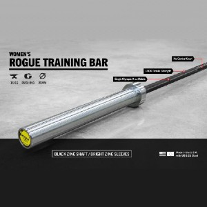 Rogue 25MM Women's Training Bar - Best Barbell for Women: Unquestionable durability
