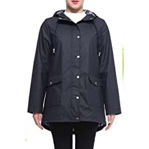 Rokka&Rolla Women's Waterproof Slicker Rain Jacket - Best Raincoats for Cycling: Completely waterproof
