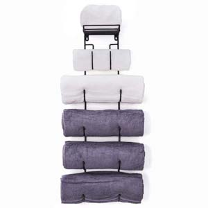 SODUKU Wall Mount Metal Wine/Towel Rack - Best Bathroom Organizer: Arrange your towels neatly