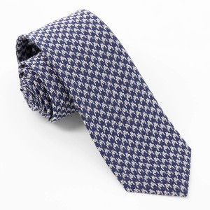 Tie Bar Royal Houndstooth Navy Tie - Best Ties for Striped Shirts: For bolder personality