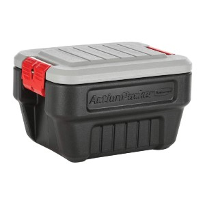 Rubbermaid ActionPacker️ 8 Gal Lockable Storage Bins - Best Storage Containers for Moving: Lockable latches