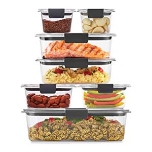 Rubbermaid Brilliance Storage 14-Piece Plastic Lids - Best Food Storage Container: Leak-proof and sophisticated