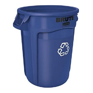 Rubbermaid Commercial Products FG262073BLUE BRUTE  - Best Outdoor Compost Bins: Heavy-duty construction