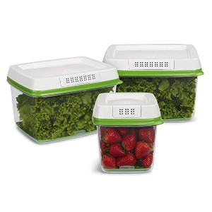 Rubbermaid FreshWorks Food Storage Containers  - Best Leftover Food Storage Containers: Ventilation for airflow