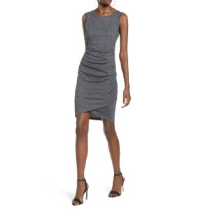 LEITH Ruched Body-Con Tank Dress - Best Dresses for Small Chest: Gentle Ruching at One Side