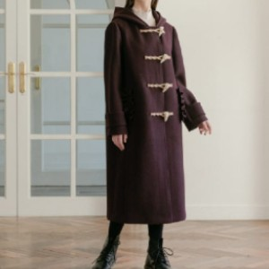 DEBB Ruffle Hoodie Duffle Coat - Best Coats for Cold Weather: Thick Wool Blend Fabrication