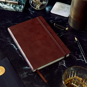 Beechmore Books British A5 Journal - Best Notebook for Fountain Pens: Faux-leather cover