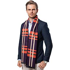 Runtlly Men's Luxurious Classic Cashmere Scarf - Best Scarves for Winter: High quality and good look