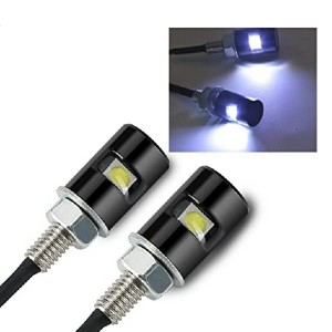 Rupse 2PCS White LED License Plate Screw Blot Light  - Best LED License Plate Bulbs: Protected from the rain
