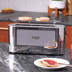 Russell Hobbs 2 Slice Long Slot Toaster - Best Toaster Long Slot: Toaster with Adjustable Thermostat