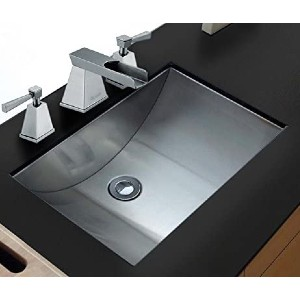 Ruvati Brushed Stainless Steel Rectangular Bathroom Sink Undermount - Best Undermount Bathroom Sinks: High-Quality Stainless Steel Sink