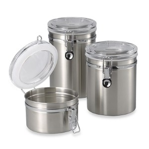 SALT Brushed Stainless Steel - Best Canister Sets for Kitchen: Attractive Modern Styling in Brushed Stainless Steel