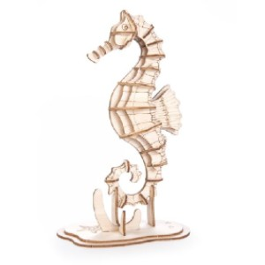 Kikkerland SEAHORSE 3D WOODEN PUZZLE - Best Wooden Puzzles: Challenging and Creative Way to Pass the Time