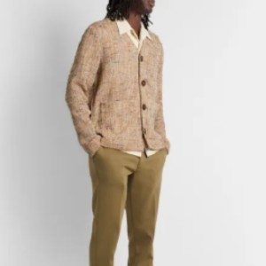 SÉFR Gote Open-Knit Cotton-Blend Cardigan - Best Cardigans for Men: Cotton-Blend Cardigan