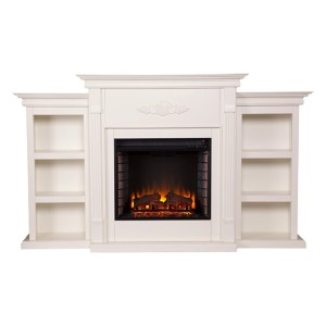 SEI Furniture Tennyson Electric Bookcases Fireplace - Best Electric Fireplace TV Stand: Energy-efficient and low-maintenance