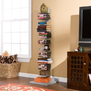 SEI Furniture Metal Spine Book Tower - Best Bookcases for Small Spaces: Versatile Vertical Tower