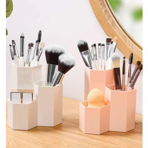 Shein Solid Cosmetic Storage Box - Best Makeup Brush Holder: Simple Brush Organizer