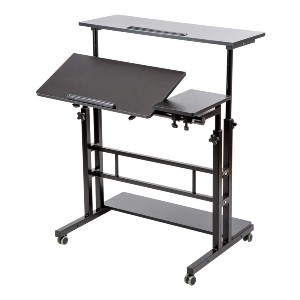 SIDUCAL Mobile Stand Up Desk - Best Standing Desk with Wheels: Sleek Contemporary Desk