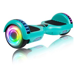 SISIGAD Hoverboard with Bluetooth and Colorful Lights  - Best Hoverboard Under $200: Enjoy music without annoying cable