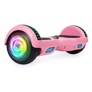 SISIGAD Hoverboard with Bluetooth and Colorful Lights - Best Hoverboard for Beginners: Built-in wireless speaker