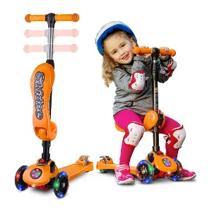 Skidee Kick Scooters for Kids 2-12 Years Old - Best 3 Wheel Scooter: Play and exercise at the same time