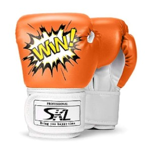 SKL  Kids Boxing Gloves  - Best Boxing Gloves for Kids: Long Wrist Strap with Good Quality Velcro Closure