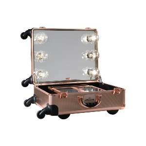 Impressions Vanity SLAYCASE - Best Makeup Train Case: Detachable Tiered Compartments