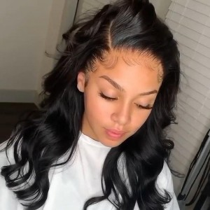 SMITHHAIR Brazilian Body Wave Wig - Best Human Hair Wigs for African American: Pre Plucked Natural Hairline