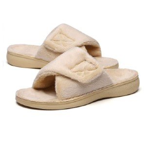 SOLLBEAM Fuzzy House Slippers - Best Women's House Slippers: The Soft Fur Keep Your Foot Warm