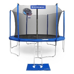 SONGMICS 15-Foot Trampoline with Enclosure Net - Best Home Trampoline for Adults: Exercise with fun