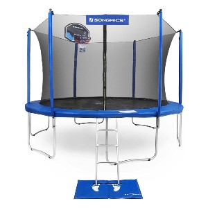 SONGMICS 15-Foot Trampoline with Enclosure Net - Best Trampoline with Basketball Hoop: Made to last