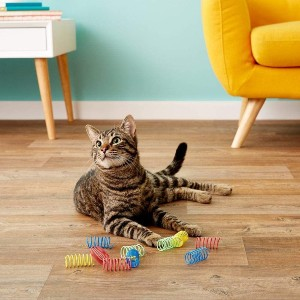 SPOT Ethical Products Ethical Wide Colorful Springs Cat Toy - Best Cat Toys for Home Alone: Colorful Extra Wide Springs